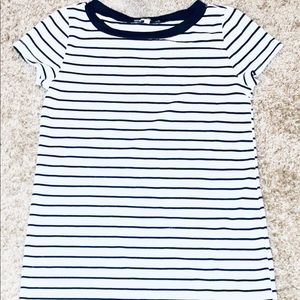 Charlotte Russe Black & White Stripe T-shirt Dress